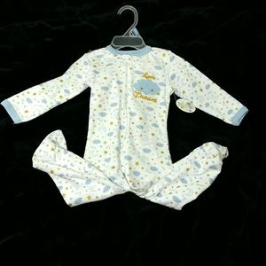 Baby Boy Star Moon Print Body Suit Size 6/9 Months